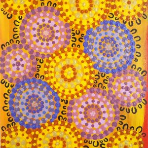 Collette Gray-Women in the outback sitting with wildflowers H40 W30, 17-554.jpg-WEB